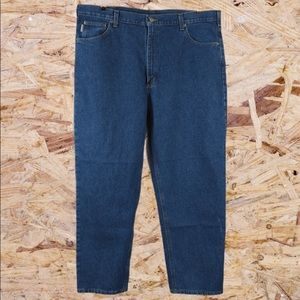 Carhartt relaxed fit tapered leg jean 42 x 30 blue